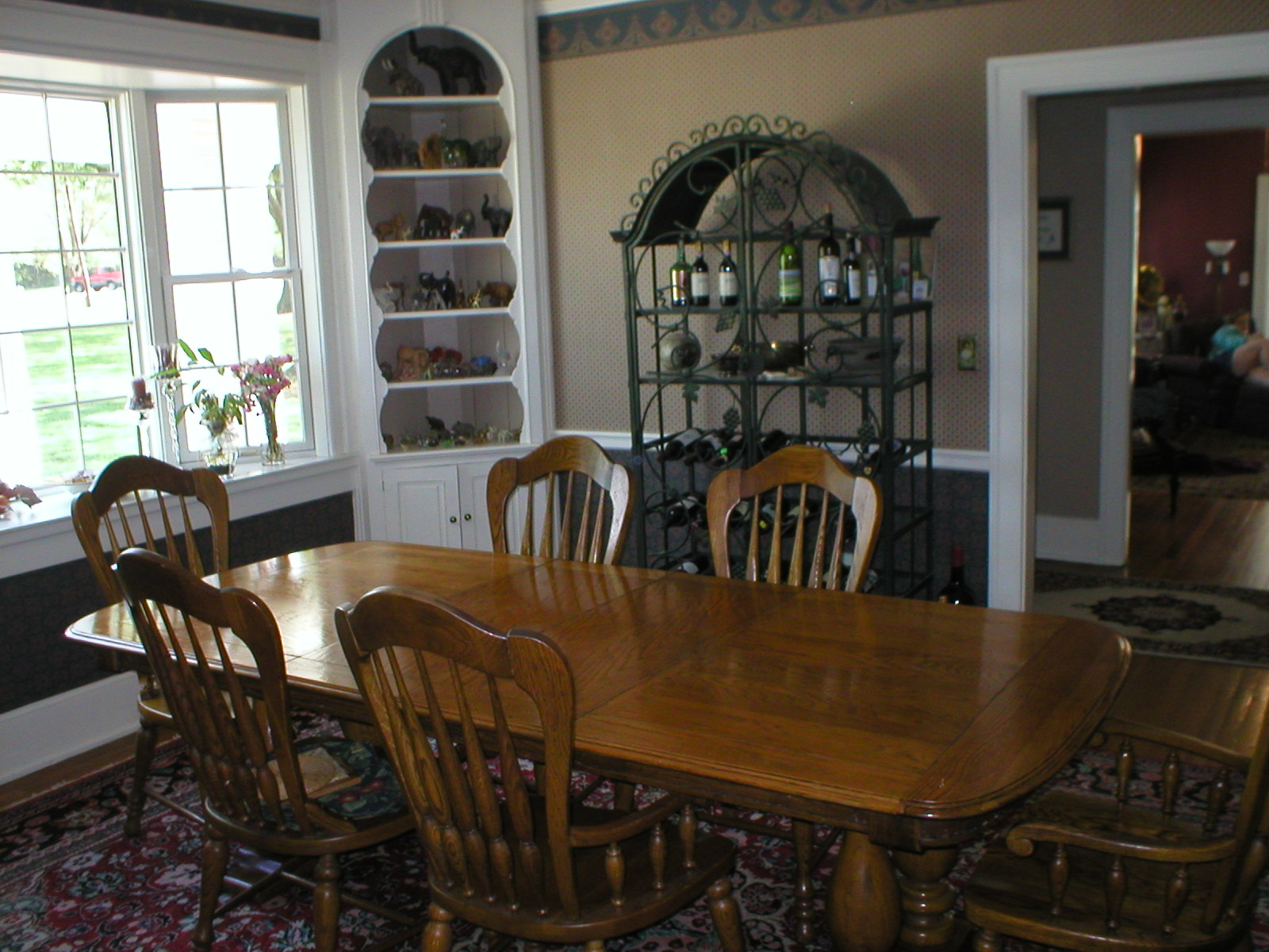 The Dining Room Has A Bay Window Looking Out To Front Yard And Park Across Street Built In Corner Cabinets Add Character This
